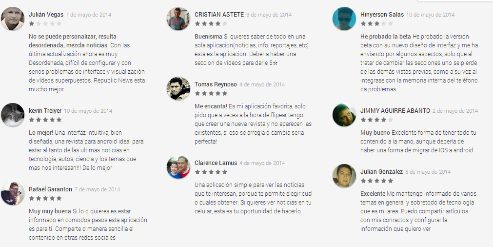 Comentarios Flipboard