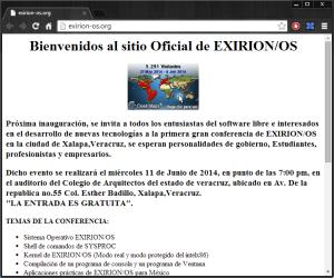 EXIRION OS Primer Sistema Operativo Mexicano