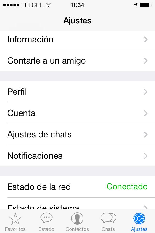 Ocultar la última conexión en WhatsApp