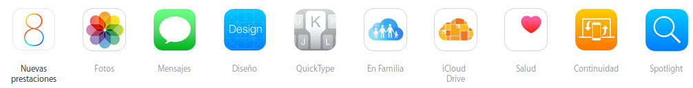 iOS8-Funciones