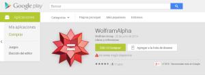 Wolfram en Play Store