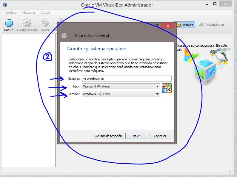2 Instalar Windows 10 Technical Preview usando VirtualBox
