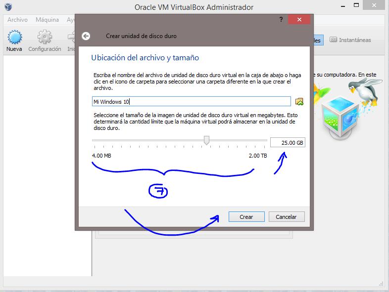 7 Instalar Windows 10 Technical Preview usando VirtualBox