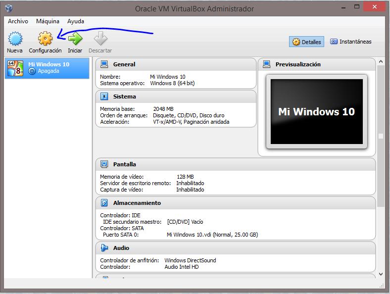 9 Instalar Windows 10 Technical Preview usando VirtualBox