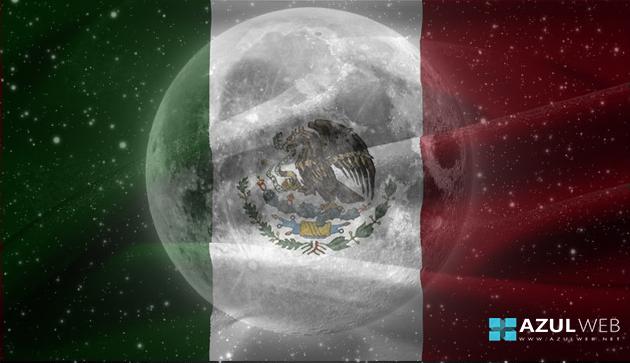 Bandera de Mexico en la Luna