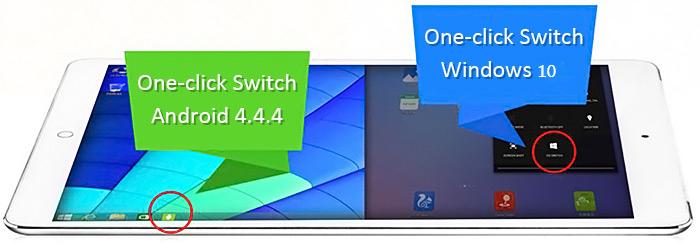 Onda V919, tablet con arranque dual, Win10 + Android4.4.