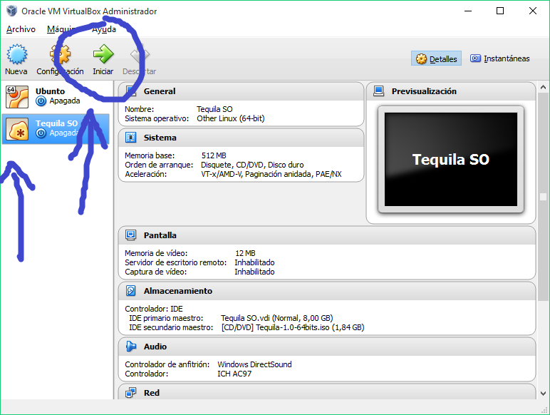 Instalar en una Unidad Virtual Tequila SO 13