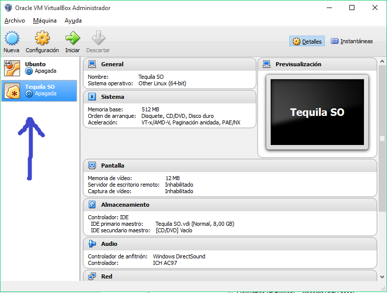 Instalar en una Unidad Virtual Tequila SO 9