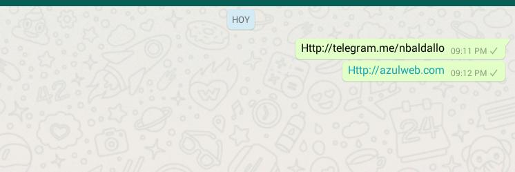 Whatsapp, link de telegram sin funcionar