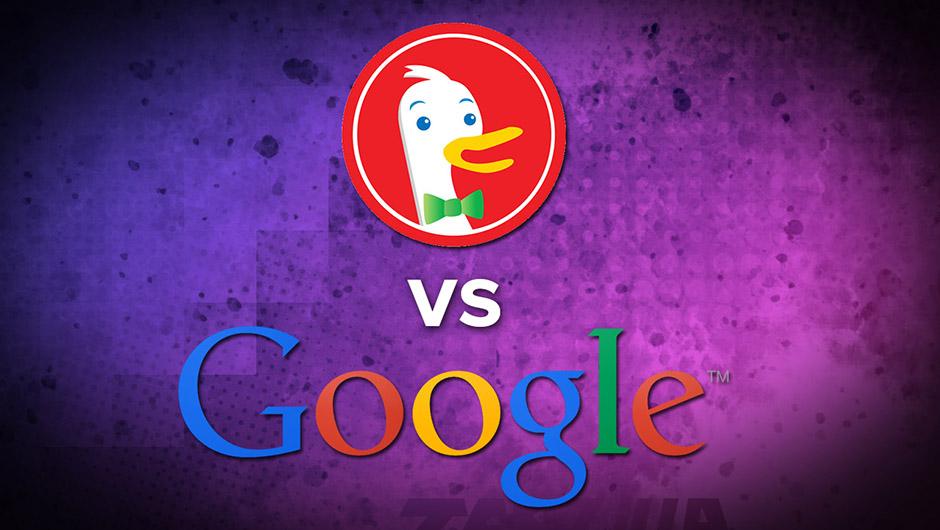 Buscador duckduckgo vs google
