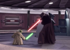 Maestro Yoda VS Darth Sidious Episodio III