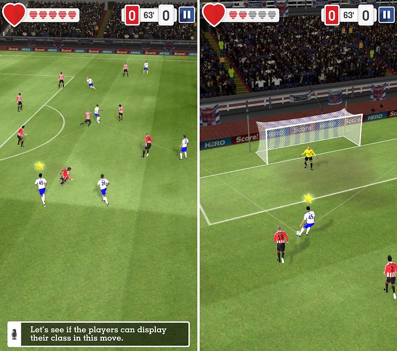 juegos de fútbol para Android - Score! Hero