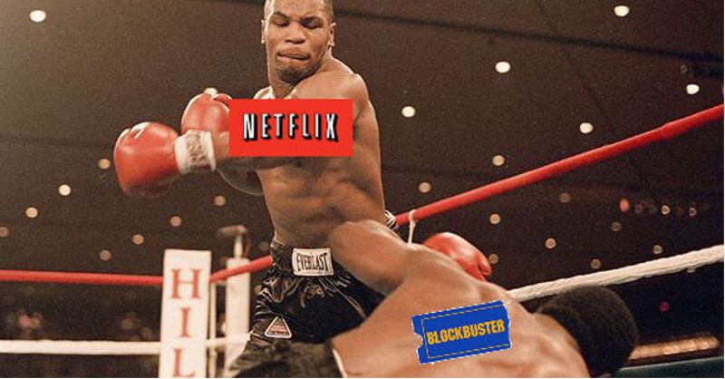 El día que Blockbuster se río de Netflix