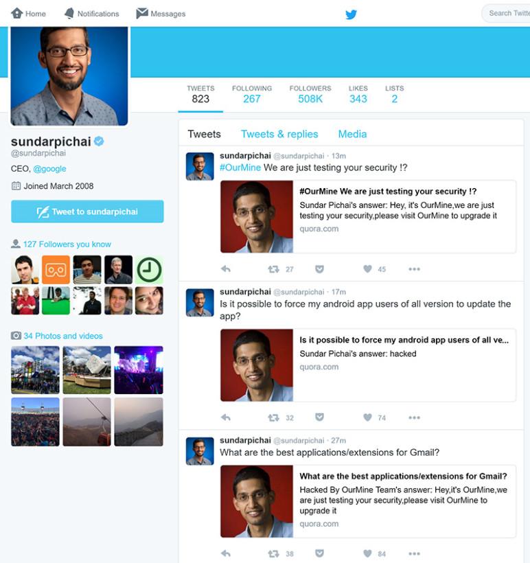 Hackean al CEO de Google