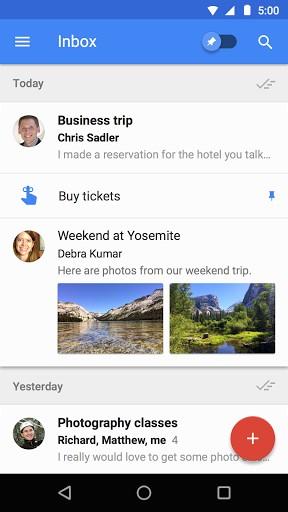 Inbox - aplicaciones para mejorar la productividad