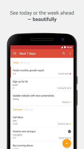 Todoist - aplicaciones para mejorar la productividad
