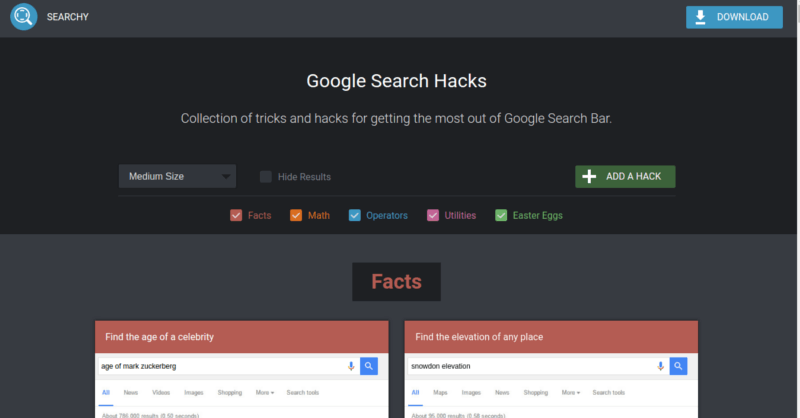 Google Search Hacks