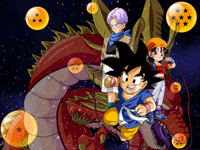 Goku, Trunks y Pan