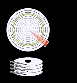 disco duro partes internas
