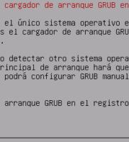 22. Instalción de cargador de arranque GRUB