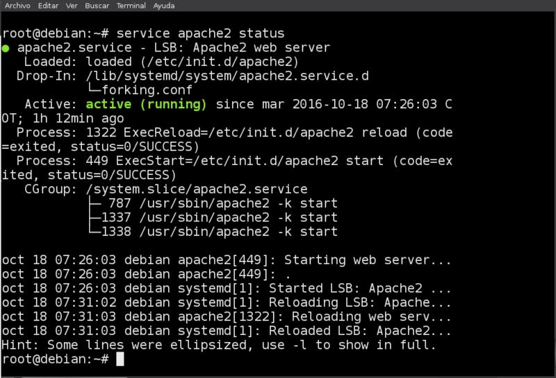 4. Verificación del servidor web Apache
