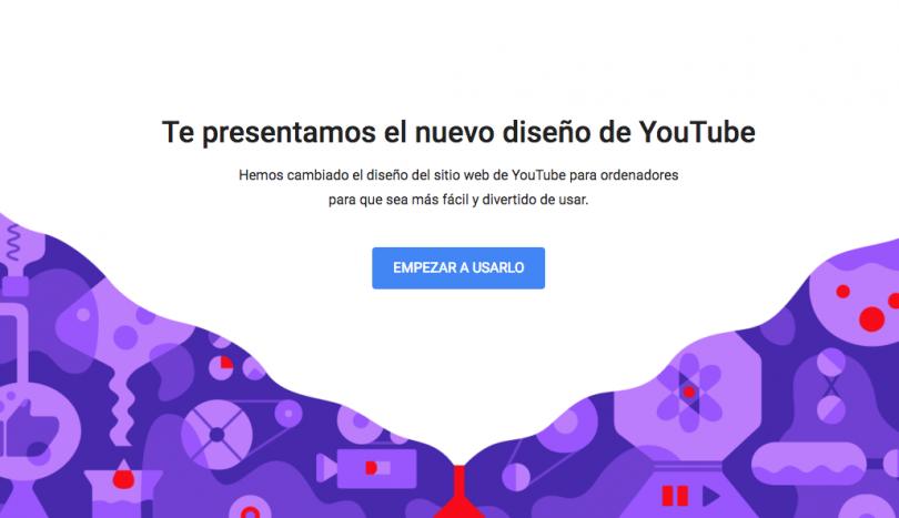 Te decimos como activar el nuevo diseño de YouTube.