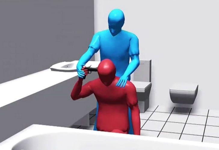 reconstrucción virtual de muerte