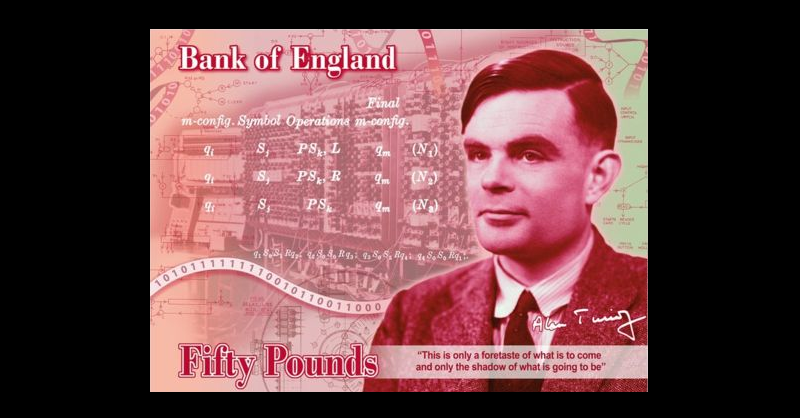 Alan Turing en billete de £50