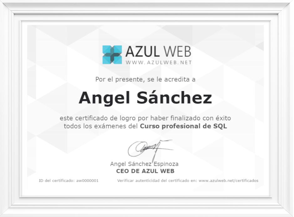 Certificado Azul Web