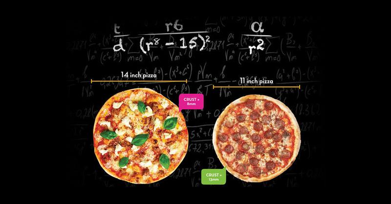 siempre debes pedir la pizza más grande